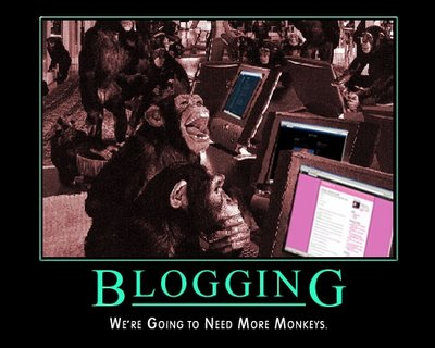 Blogging motivational poster